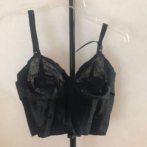 Vintage black lace bra